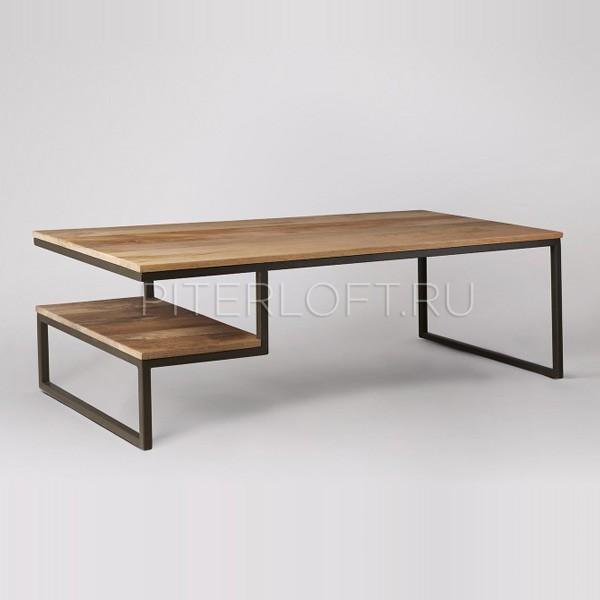 журнальный столик с необычным дизайном в стиле лофт купить спб