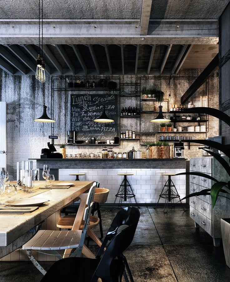 самые распространённые фото дизайн кафе в стиле лофт есть сути