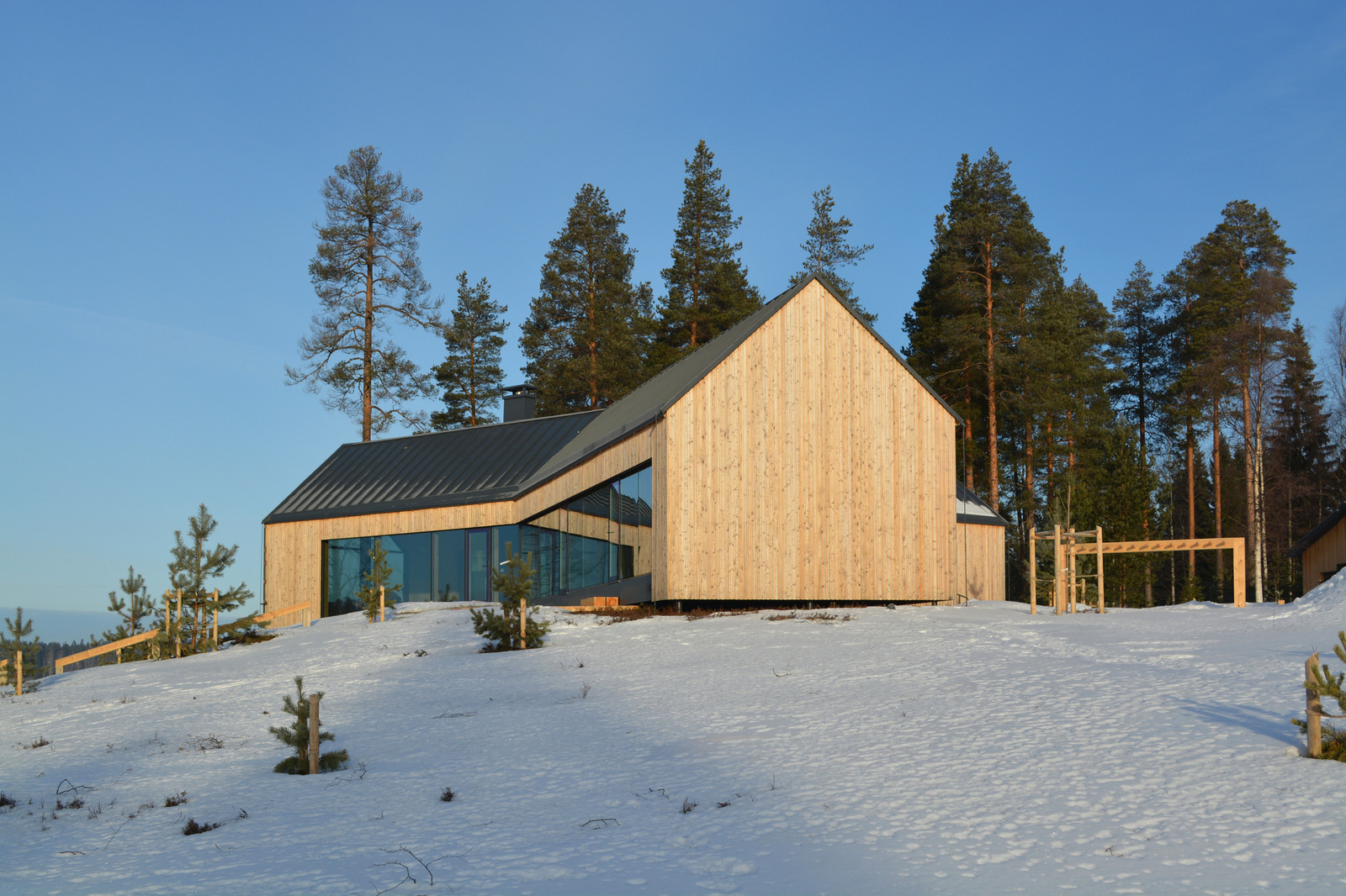 загородный дом скандинавский стиль