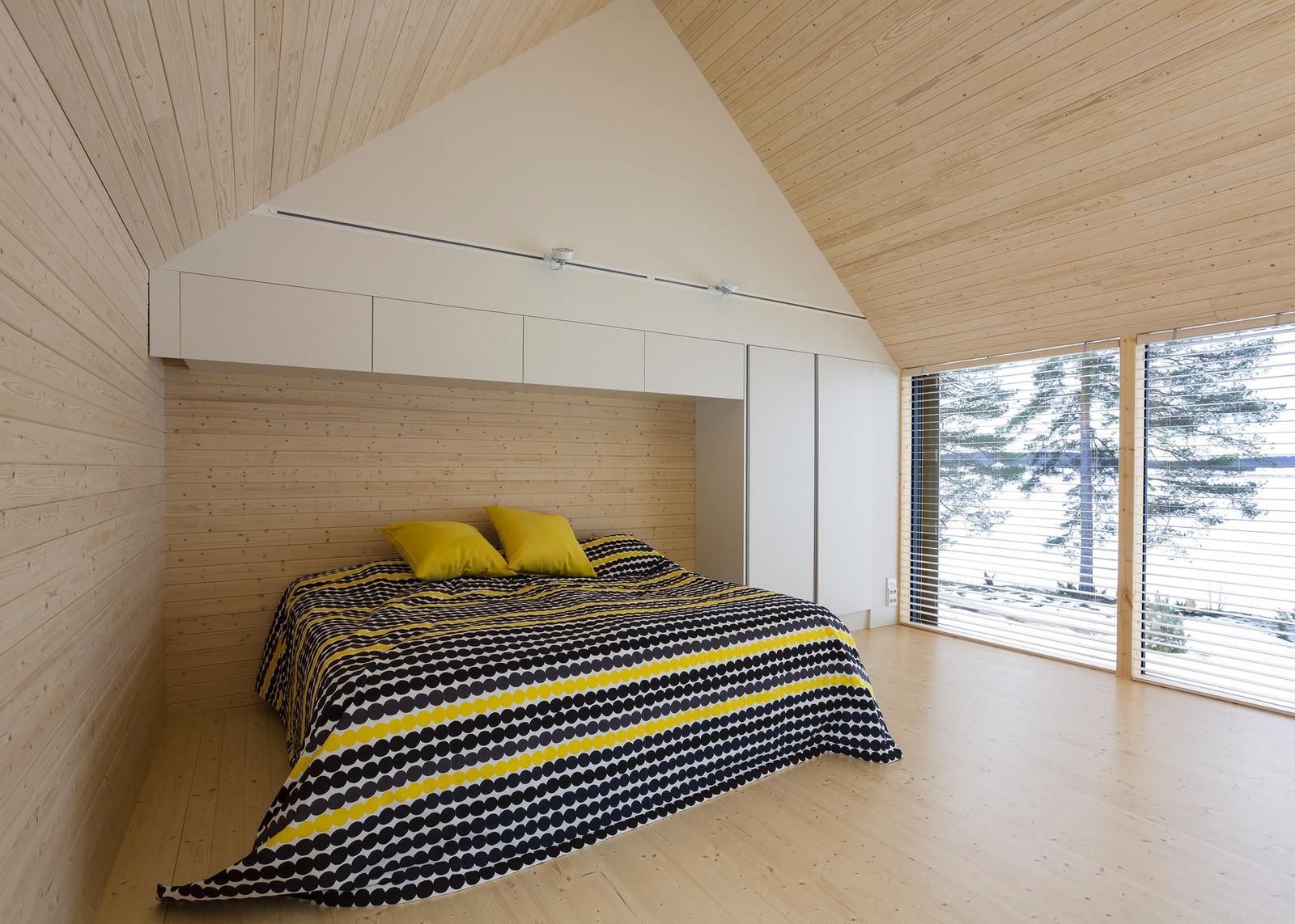 спальная комната в коттедже