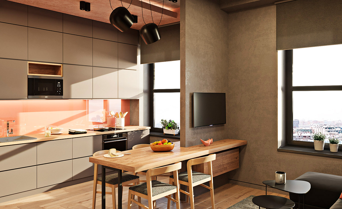 интерьер совремнной кухни